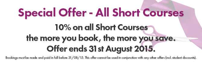 August Special Offer - Short Courses