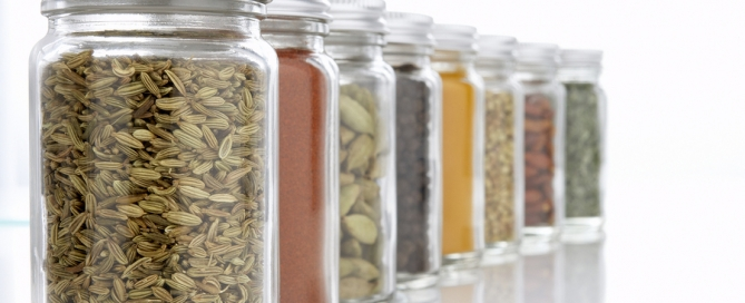 Jars Of Herbs And Spices