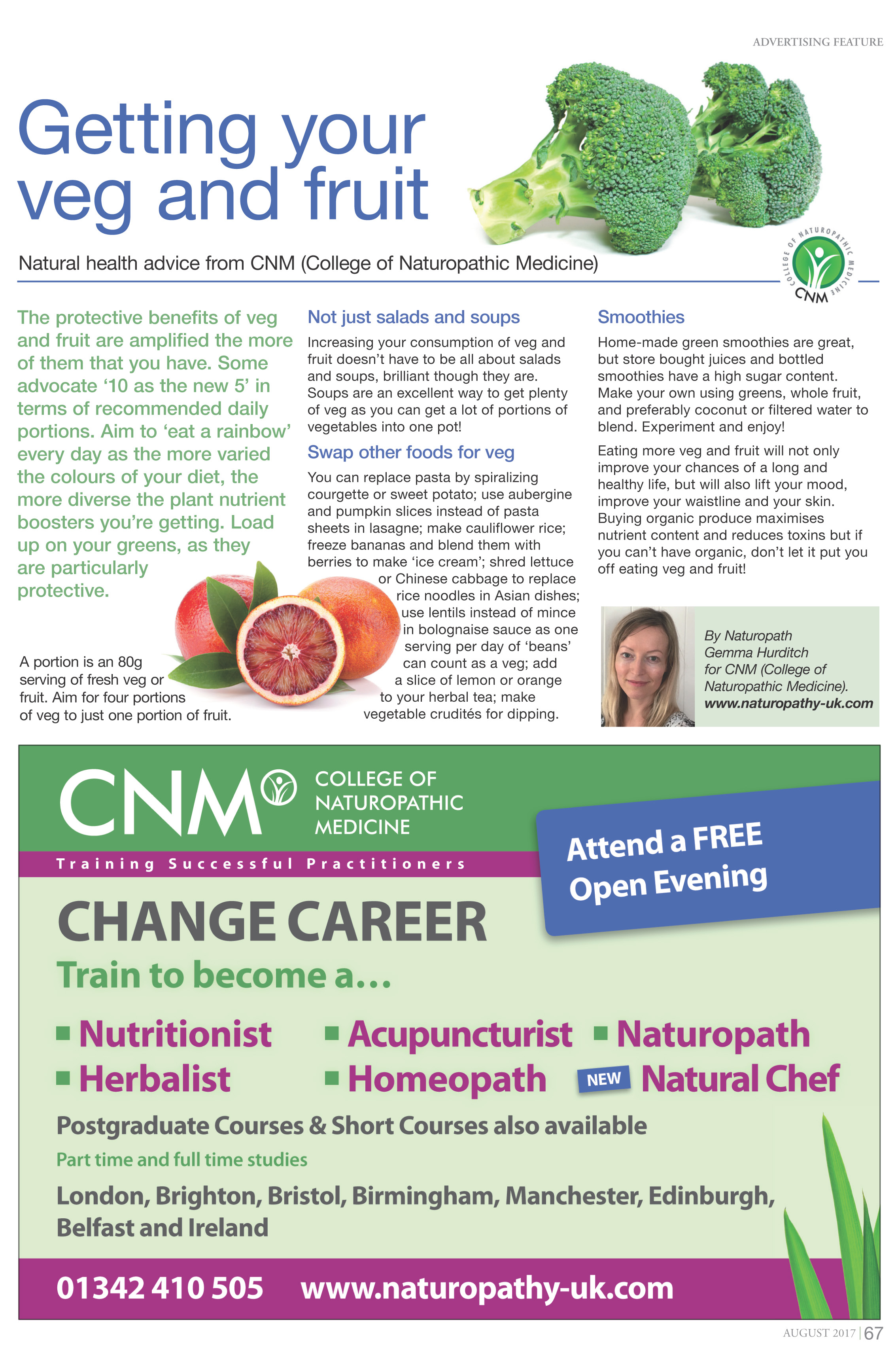 Magnet Aug 17 Fruit and Veg GH - CNM - Diploma Courses in Nutrition ...
