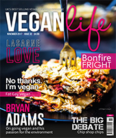 Vegan Life NOV 2017 cover