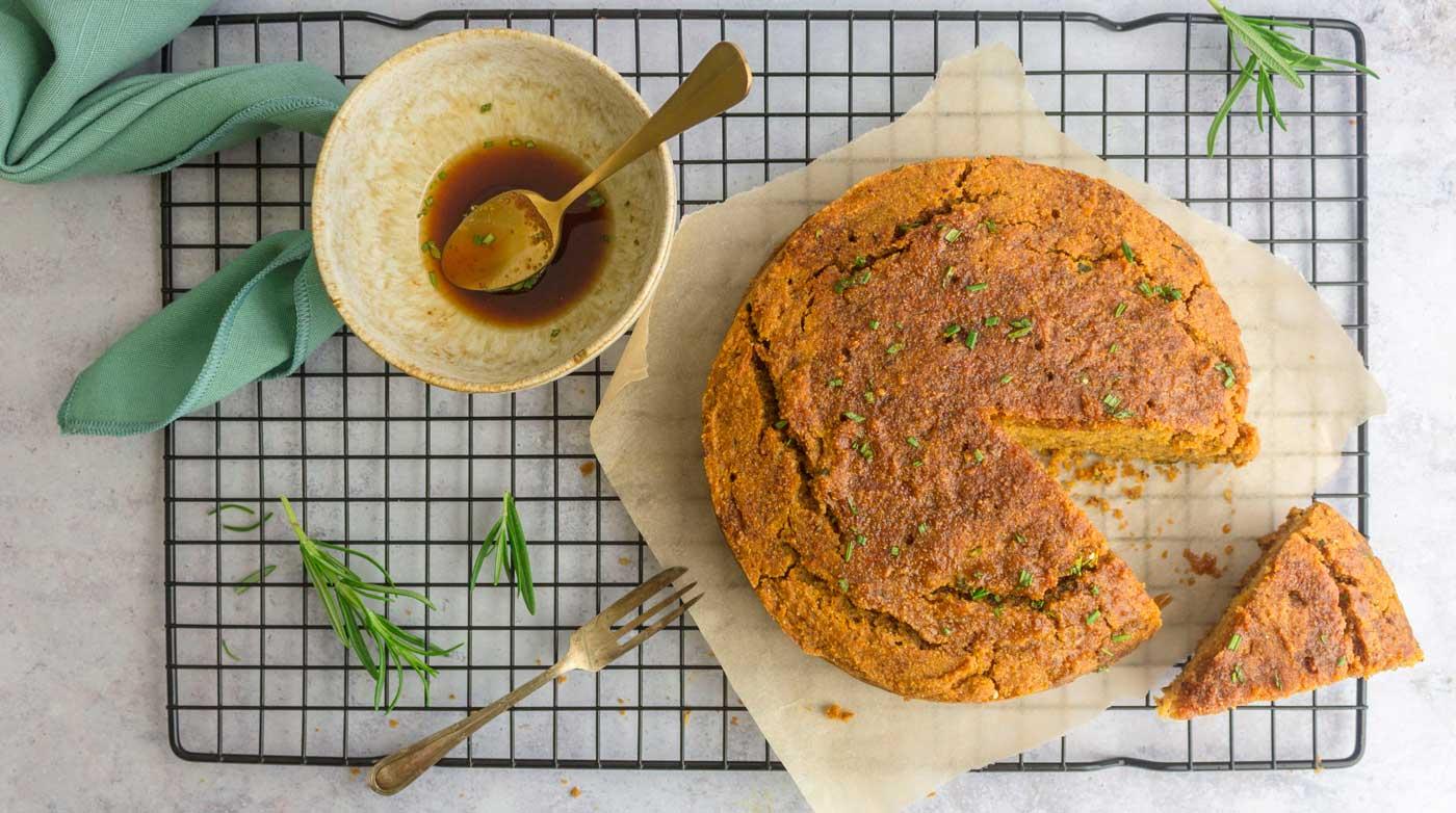 Rosemary & Orange Polenta Cake